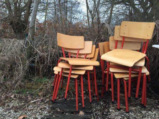 mumu red vintage school chair vintage nofoa nofoa nofoa nofoaafi vintage ecolier GoodStuffFactory