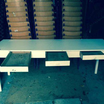 witte vintage tafels refter