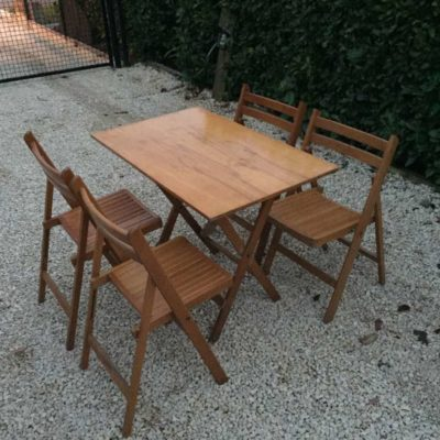 picnic vintage retro set table table folding table folks paiStuffFactory
