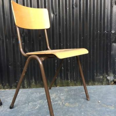 vintage retro taʻavale nofoaafi ecole brown brown brocante_GoodStuffFactory