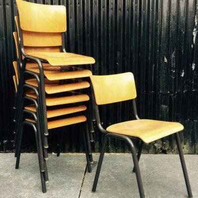 ELBE schoolstoelen TUBAX stijl grijs frame vintage retro bar style_GoodStuffFactory