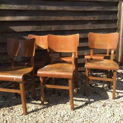 atelierstoelen barista bar cafe vintage retro houten stoelen _GoodStuffFactory