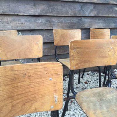 ZWART FRAME NOIRE vintage stoelen CHAISES_GoodStuffFactory