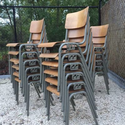 Retro Vintage Industrial Switches Chairs belgian army_GoodStuffFactory