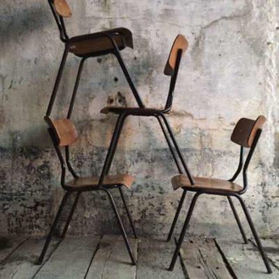 vintage industrial STAPEL stoelen black zwart frame_GoodStuffFactory