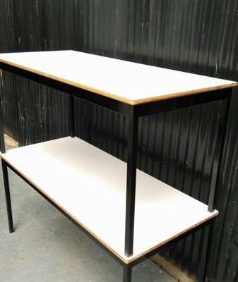 cafe catering table vintage retro brasserie coffee shop vintage terrace chair terrace terrace tafel table noire_GoodStuffFactory