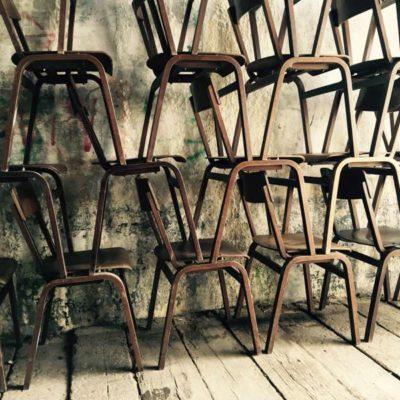 Northic wood vine vintage old school chair soo high industrial musthave GoodStuffFactory