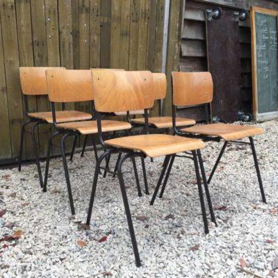 vintage elegante schoolstoelen kantinestoelen lofty retro cool GoodStuffFactory