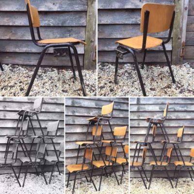 brown frame kujerar kujera chaise retro brocante vintage masana'antu masana'antu look GoodStuffFactory