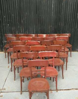 BROWN brown old school rero vintage chair chacante cafe kaitaina cafe GoodStuffFactory