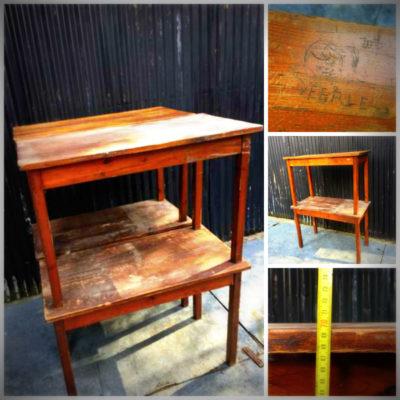 cafe table cafe tepu tawhito te rakau pakari rakau vintage retro patine mahi GoodStuffFactory