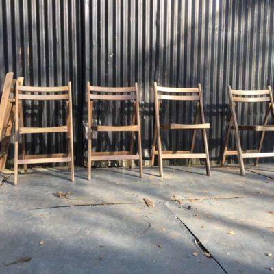 plooistoelen klapstoelen stapelstoelen kantine brasserie koffiebar vintage retro horeca GoodStuffFactory