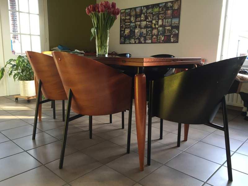 Set van 6 philippe stark costes stoelen en bijhorende tafel the good stuff factory - Stoelen philippe starck ...