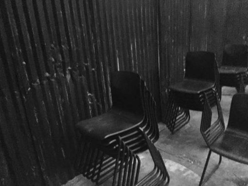 Galvanitas S23 bruin metalen frame industriel vintage retro stoel chaise_GoodStuffFactory