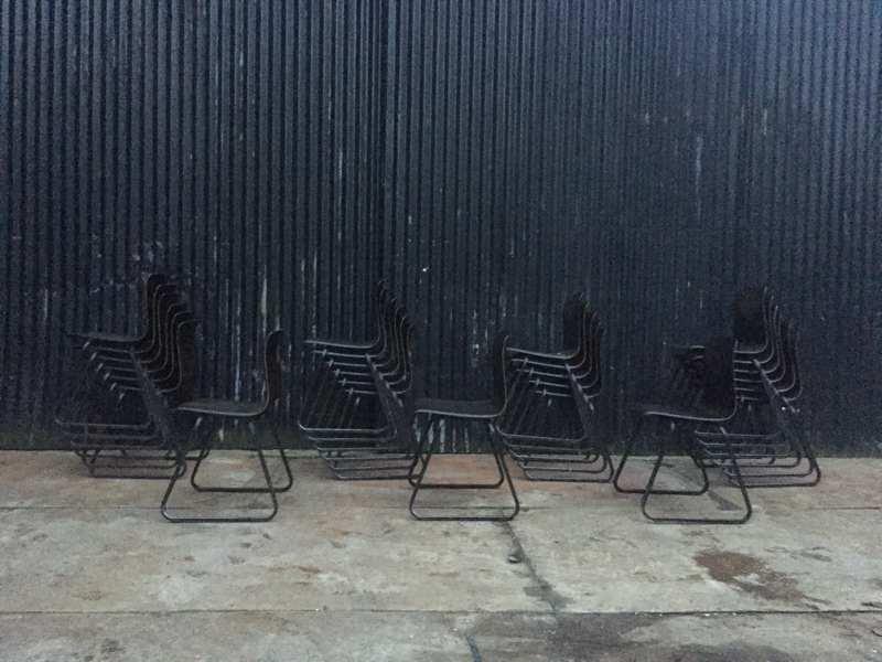 Stoel Metalen Frame : Galvanitas s sledestoelen zwarte zit donkerbruin frame op