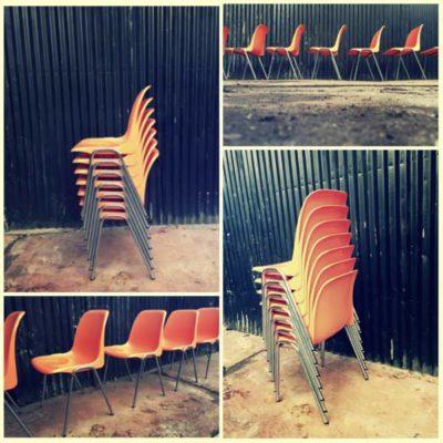 kuipstoel kantine stapelstoel horeca vintage retro stoer oranje terras industrial stolar stuhl stoel chaise_GoodStuffFactory