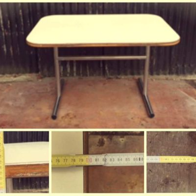table dining table dining retro vintage cool orange industry formica _GoodStuffFactory