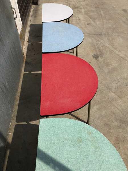 Horeca retro vintage industrieel magazijnrekken tafel bijzettafel Formica_GoodStuffFactory