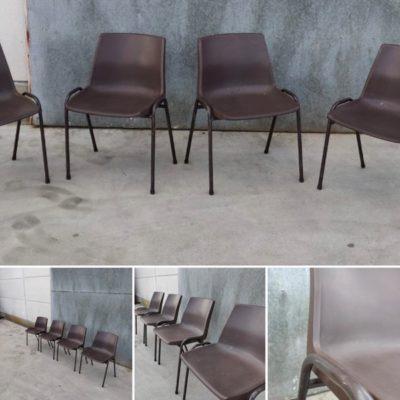 budget vintage plastic stoel stapelbaar empilable bonne marche