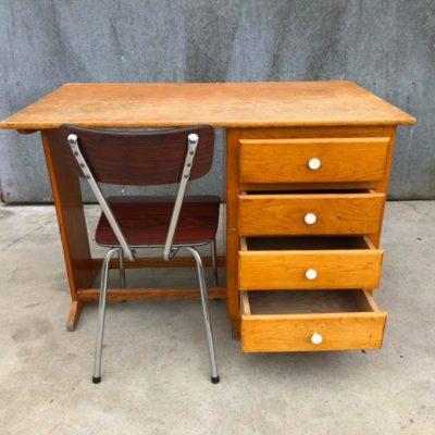 houten buro vintage_thegoodstufffactory