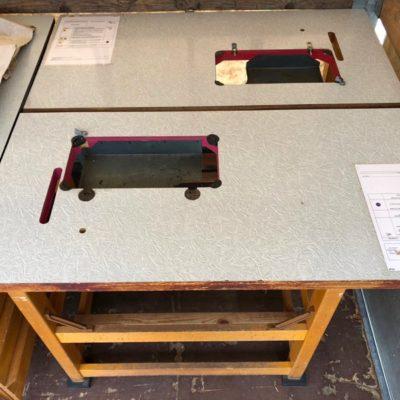 houten werkbank vintage workbench industrial sewing naaibank_thegoodstufffactory