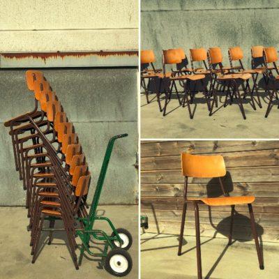bruin brune chaise vintage antike retro eighties_thegoodstufffactory