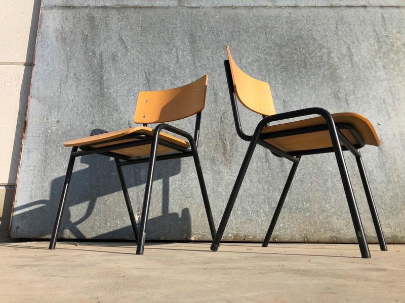 Lage Design Stoelen.Zwarte Vintage Kantine Stoelen Lage Zit 50 Op Voorraad