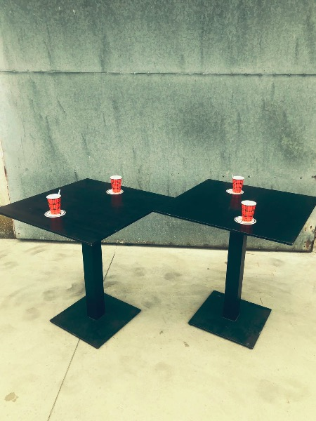 bistro carre tafel vierkant new vintage bar horeca_thegoodstufffactory_be