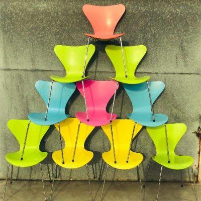 fritz Hansen vlinder stoel vintage retro hirondelle_thegoodstufffactory_be