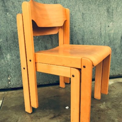 stackable wooden chairs helland Norway vintage_thegoodstufffactory_be