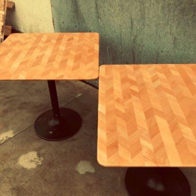 vintage tables tafels visgraatmotief horeca_thegoodstuffactory
