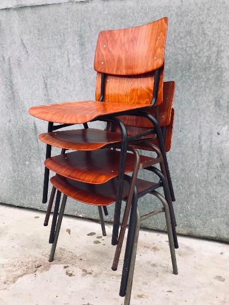 Marko Veendam pagwood vintage retro cafestoelen horeca industrial skolstolar_thegoodstufffactory_be