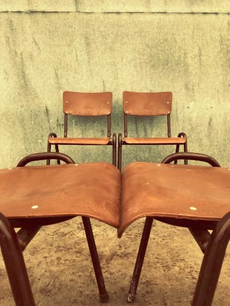 Industriele Vintage Stoelen.Industriele Vintage Stoelen Voor Binnen En Buitengebruik