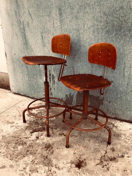 vintage retro kantine STOEL kruk tabouret_thegoodstufffactory_be
