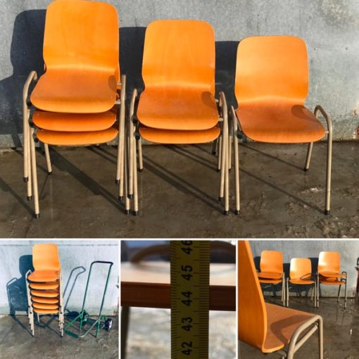drisag vintage chaise chair stackable_thegoodstufffactory_be