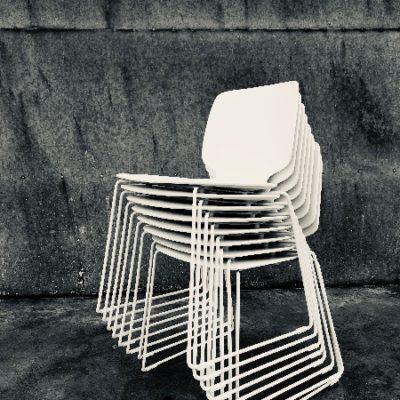 chaise blanche stoel wit pedrali horeca pedrali babila Design vintage_thegoodstufffactory