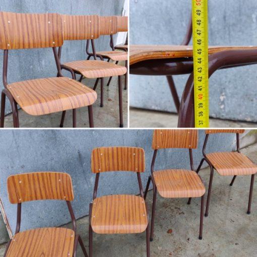 formica fineer kantine stoelen brune brown_thegoodstufffactory_be