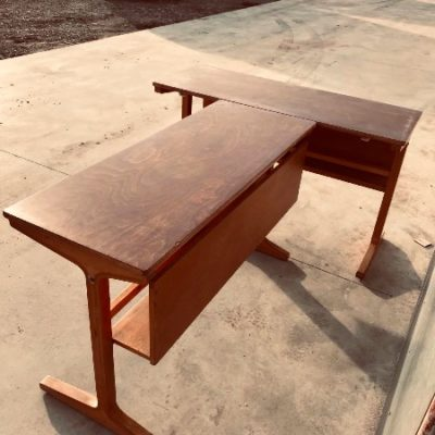 houten vintage werktafel bureau_thegoodstufffactory_Be
