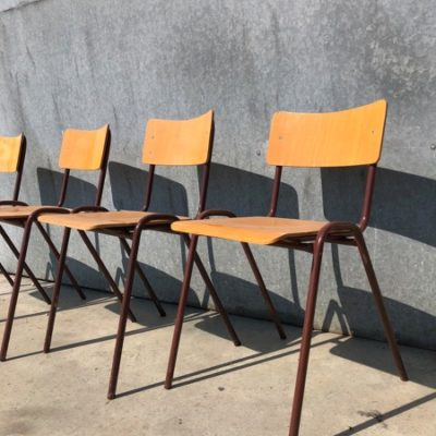 school industrial chair canteen_thegoodstufffactory_Be