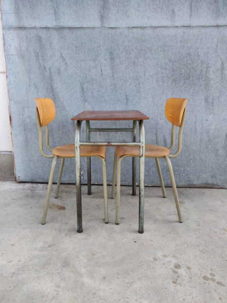 industrial boho style vintage industrial table tafel restaurant pop up_thegooodstufffactory_be