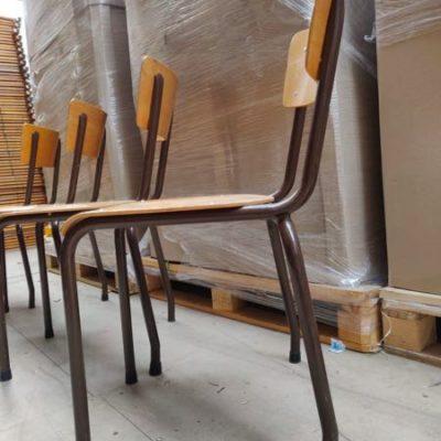 kantine stoelen bruin frame horeca terras_thegoodstufffactory_Be