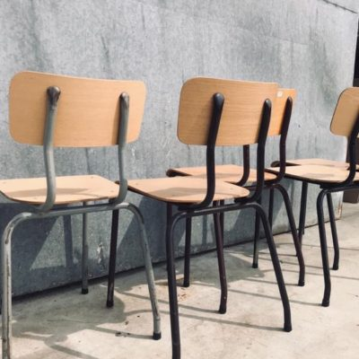 mix & match canteens industrial vintage retro formica horeca chair stoel stool_thegoodstufffactory_be