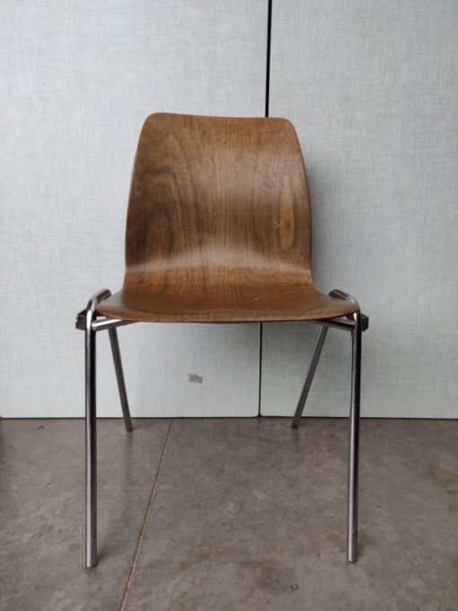 Pagholz okkernoot industrial style factory chair_thegoodstufffactory_be