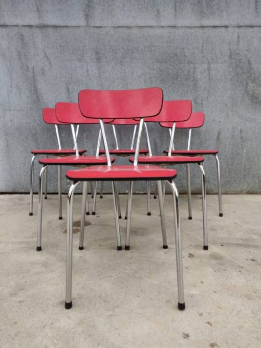 ROOD RED FORMICA CHAIR CHAISE vintage retro interior stoel chaise_the good stuff factory_Be
