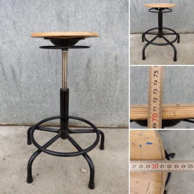 Materie prime studio sedie e taburete regolabile ospitalità pop up co spazio di travagliu retro vintage_thegoodstufffactory_BE