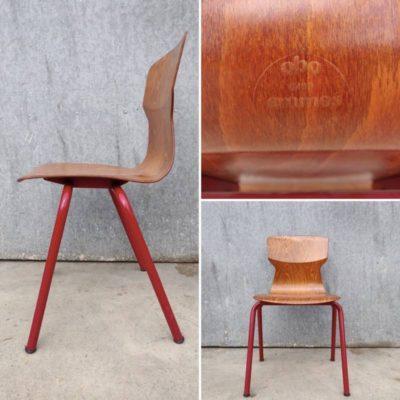 бордо пагвоод обо еромес холандски дизајн винтаге ретро столица за унутрашњост лежаљка - добре ствари фацтори_Бе