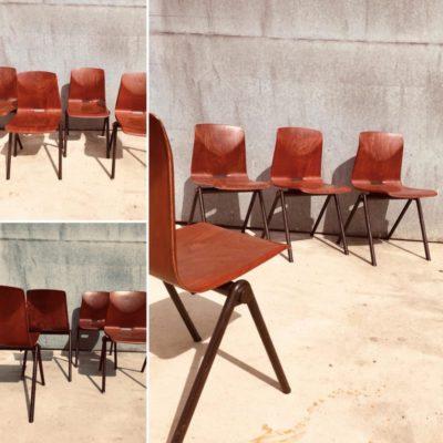 cerise pagholz GALVANITAS S30 chaise ụdị co ọrụ ohere zuru oke vintage_thegoodstufffactory_be