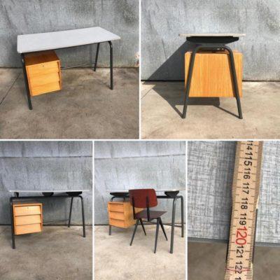 Tubax industrial desk bureau vintage retro sixties_thegoodstufffactory_Be