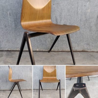 GALVANITAS original S22 Pagholz Pagwood Vintage Retro Industrial Design Chairs chaises stolar_thegoodstufffactory_be