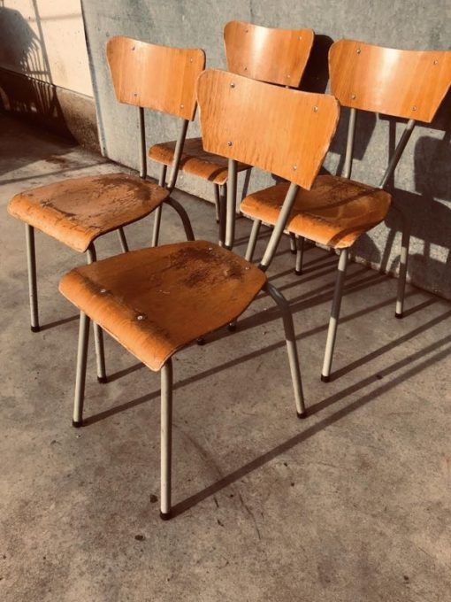 GREEN nofoa cafe INTERIOR RETRO vintage factory chair desk stool_thegoodstufffactory_be